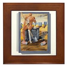 Early Retirement Framed Tile