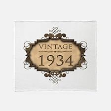 1934 Birth Year (Rustic) Throw Blanket