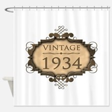 1934 Birth Year (Rustic) Shower Curtain
