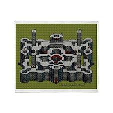 Flat Perspective Castle Throw Blanket