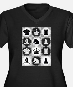 Chessboard Pattern Plus Size T-Shirt