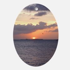 Sunset over KEY WEST Oval Ornament