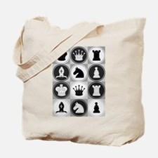 Chessboard Pattern Tote Bag