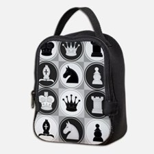 Chessboard Pattern Neoprene Lunch Bag
