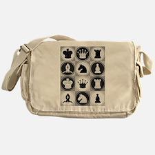 Chessboard Pattern Messenger Bag