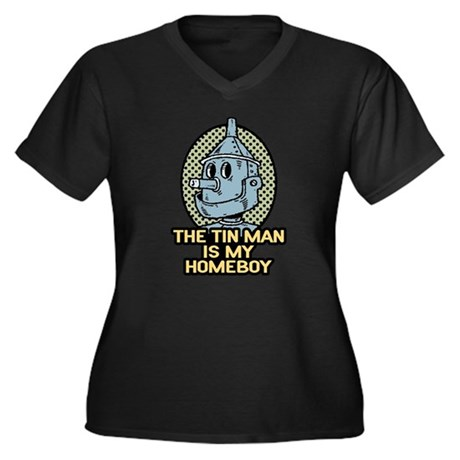 The Tin Man is My Homeboy Women's Plus Size V-Neck