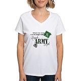 Army mom t shirts Womens V-Neck T-shirts