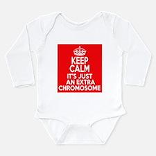 Stay Calm Chromosome Long Sleeve Infant Bodysuit