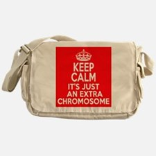 Stay Calm Chromosome Messenger Bag