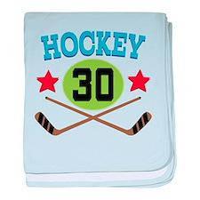 Hockey Player Number 30 baby blanket
