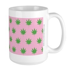 Pot Weed Leaf High Hippie Pink Mugs
