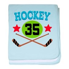 Hockey Player Number 35 baby blanket