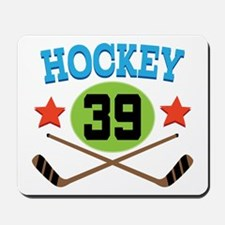 Hockey Player Number 39 Mousepad