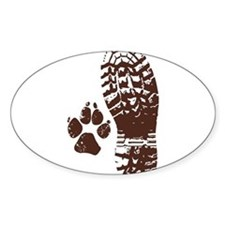 Hiking Boot n Paw Decal