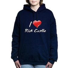 I Heart Rick Castle Woman's Hooded Sweatshirt