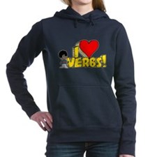 I Heart Verbs - Schoolhouse Rock! Woman's Hooded S
