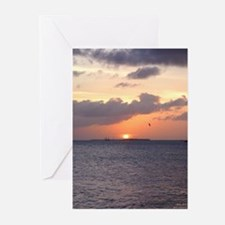 key west sunset BLANK Greeting Cards (Package o/6)