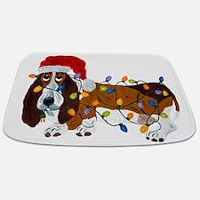 Basset Tangled In Christmas Lights Bathmat