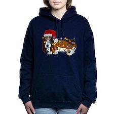 Basset Tangled In Christmas Lights Hooded Sweatshi