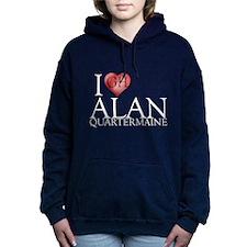 I Heart Alan Quartermaine Woman's Hooded Sweatshir