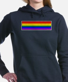 Rainbow Pride Flag Bumper Sticker Woman's Hooded S