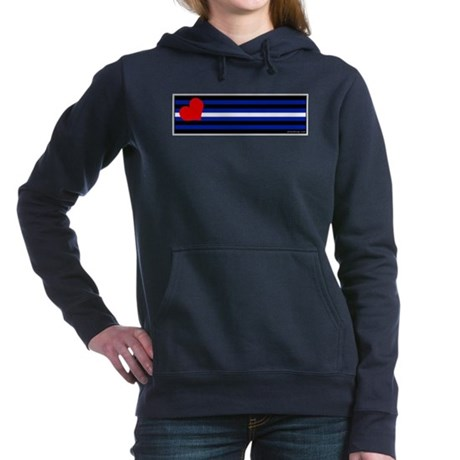 Leather Pride Flag Bumper Sticker Woman's Hooded S