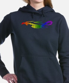 Rainbow Pride Dragon Woman's Hooded Sweatshirt