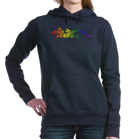 Rainbow Pride Lizard Woman's Hooded Sweatshirt