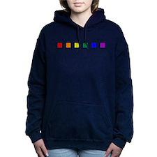Rainbow Pride Squares Woman's Hooded Sweatshirt