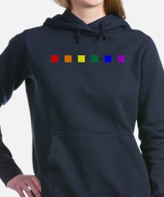 Rainbow Pride Squares Woman's Hooded Sweatshirt