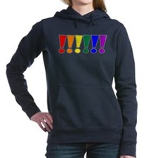 Rainbow Exclamation Points Woman's Hooded Sweatshi