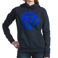 Blue 45 RPM Adapter Woman's Hooded Sweatshirt