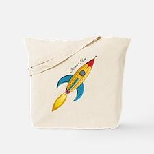 Rocket Man Rocket Ship Tote Bag