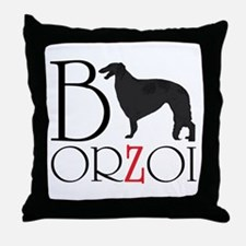 Borzoi Logo Throw Pillow