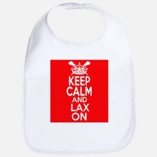 Keep Calm LAX On Bib