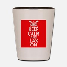 Keep Calm LAX On Shot Glass