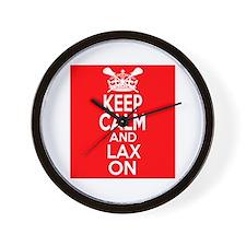 Keep Calm LAX On Wall Clock