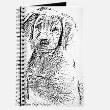 Golden Retriever Pencil Art Journal