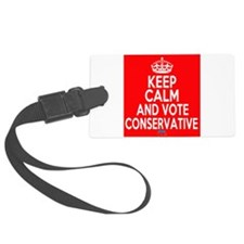 Keep Calm Conservative Luggage Tag