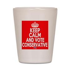 Keep Calm Conservative Shot Glass