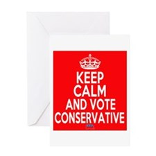 Keep Calm Conservative Greeting Card