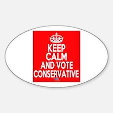 Keep Calm Conservative Decal