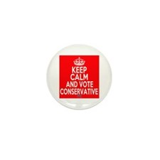 Keep Calm Conservative Mini Button (10 pack)