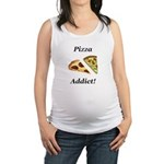 Pizza Addict Maternity Tank Top