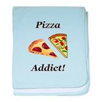 Pizza Addict baby blanket