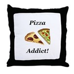 Pizza Addict Throw Pillow