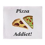 Pizza Addict Throw Blanket
