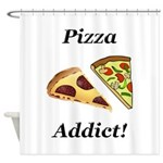 Pizza Addict Shower Curtain