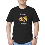 Pizza Addict Men's Fitted T-Shirt (dark)