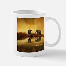 Elephant Custom Name Mug